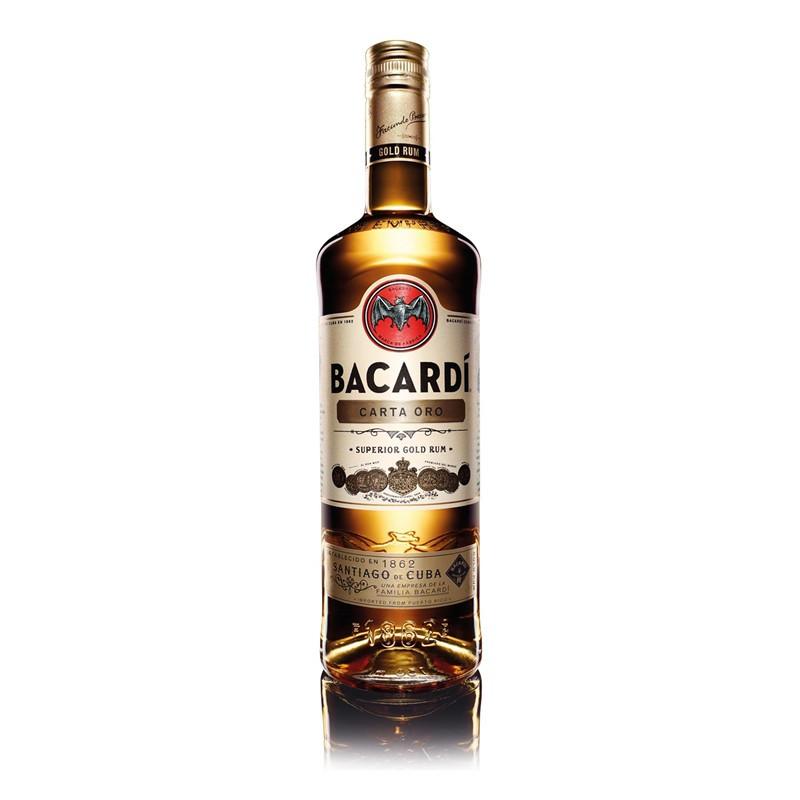 bacardi百加得_百加得(Bacardi)进口洋酒 百加得洋酒 金朗姆酒 (Bacardi Rum Carta Oro ...