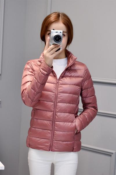 子沫雨JMOORY2019新款轻薄羽绒服女短款轻时尚羽绒服女短款大码修身