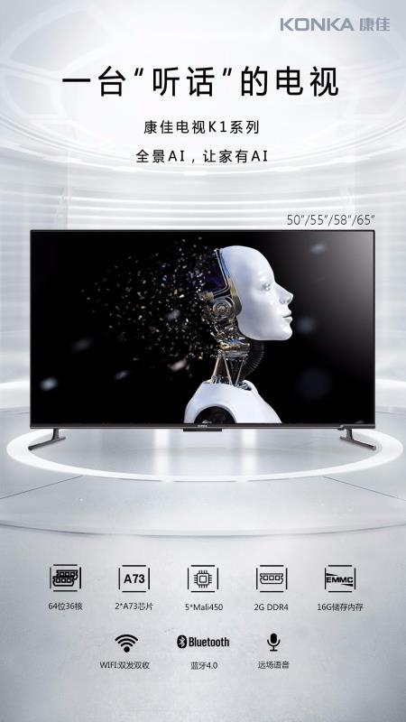 【苏宁专供】康佳电视LED65K1