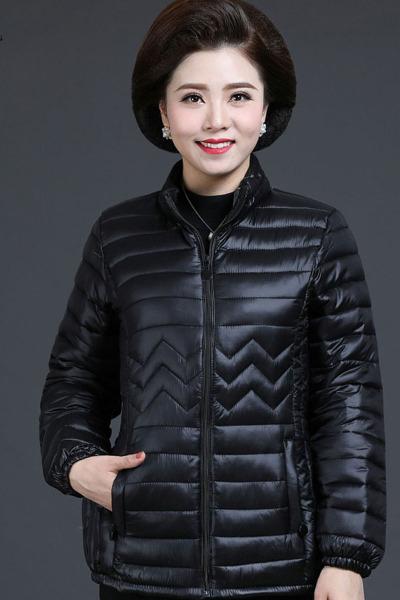大码羽绒服女士短款学生韩版可爱修身轻薄款宽松学生外套涤纶TCVV