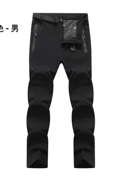 凯仕达加厚加绒冲锋裤情侣加大码登山裤保暖裤徒步登山软壳裤WK8866