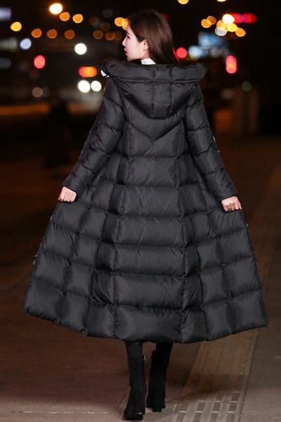 芷臻zhizhen冬季新款羽绒服女中长款韩国过膝超长款韩版羽绒衣女士加厚外套潮