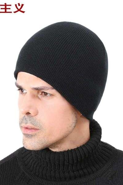 帽子男冬季防寒保暖针织帽女月子帽睡觉帽毛线帽男套头帽跑步运动