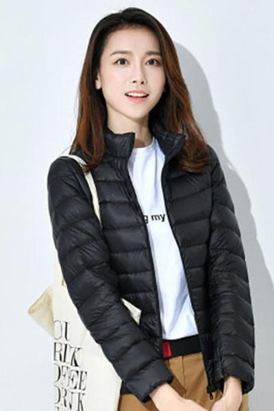 大碼羽絨服女士學生韓版可愛修身輕短款寬松學生外套 臻依緣