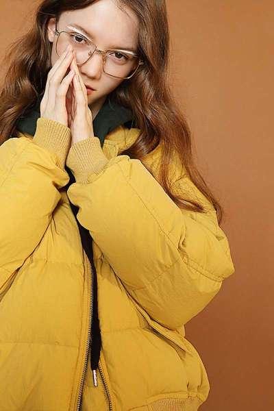 初语羽绒服女2018秋冬新款短款加厚夹克宽松棒球领面包服外套潮常规款