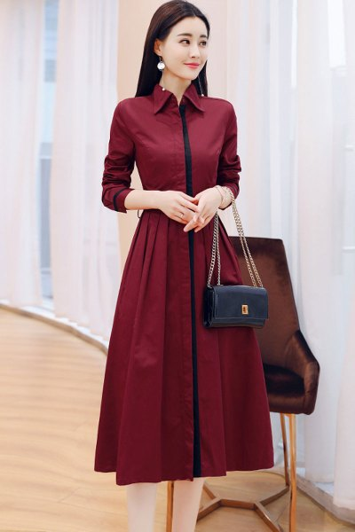 愫惠君连衣裙2018秋装新款女装长袖有女人味的气质衣服正式场合秋季裙子8580