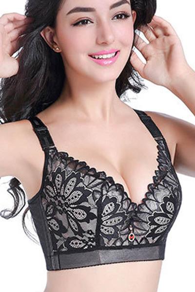 波迷娜(BOMINA)文胸聚拢大码内衣女胖mm薄款全罩杯大罩杯整型收副乳胸罩
