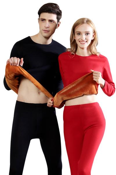 【买二付一】红豆HODO保暖内衣男士内衣/女士内衣加绒保暖黄金绒甲加厚暖甲内衣男士女士情侣套装