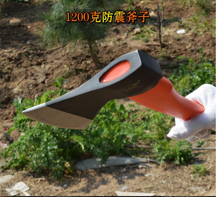 灌溉工艺家居家用钢板斧烤蓝木工斧双刃斧头大
