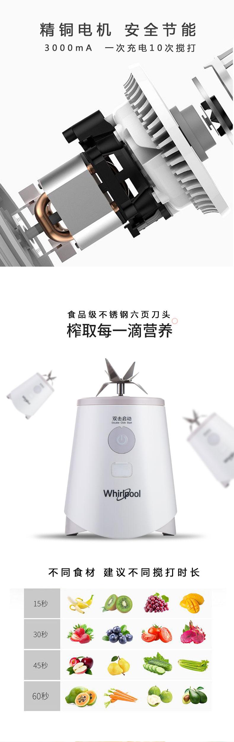 【苏宁专供】惠而浦搅拌机WBL-MS072Z-C(灰色)