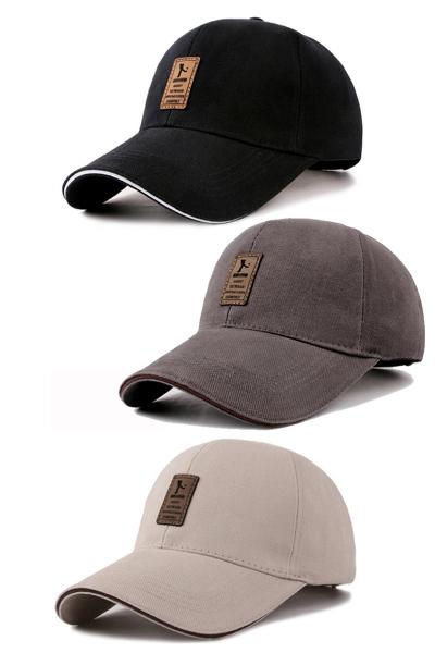男士鸭舌帽 男款棒球帽 男式休闲时尚装饰遮阳帽 运动时尚潮流百搭韩版红品HONGPIN夏季流行运动帽子