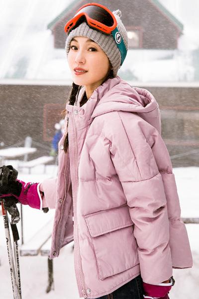 茵曼2018冬装新款连帽宽松保暖短款羽绒服面包服外套女