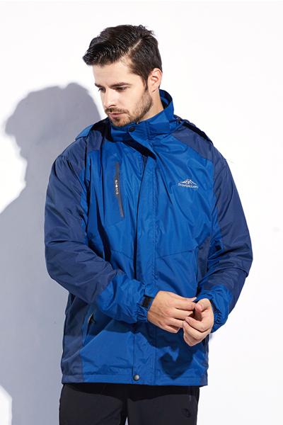 情侣款三合一两件套户外登山服防寒保暖冲锋衣ZFL777