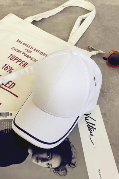 韩版夏季长带子棒球帽黑色弯檐遮阳鸭舌帽休闲百搭嘻哈帽子潮男女 臻依缘