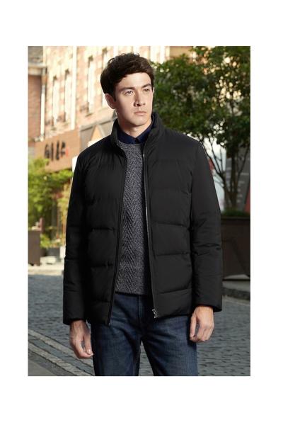 柒牌羽绒服男士 商务休闲青年时尚纯色修身保暖男装外套冬季