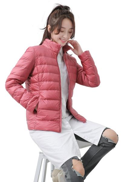 yaloo/雅鹿2018新款轻薄羽绒服女装短款修身立领羽绒轻型时尚显瘦外套