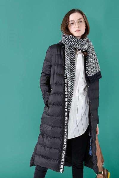 初语冬装新款羽绒服女加厚中长款无帽翻领棉被款基础百搭外套#