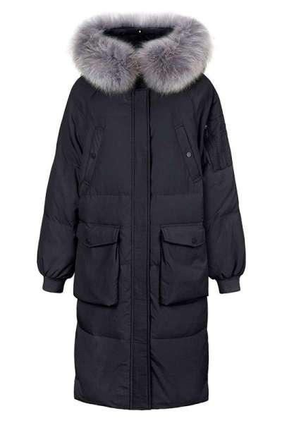 高梵新款羽绒服女中长款韩版加厚大毛领羽绒服女潮冬季外套潮