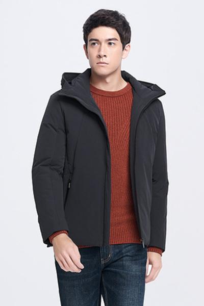 柒牌羽绒服外套冬季外套保暖商务休闲纯色连帽短款男羽绒服外套