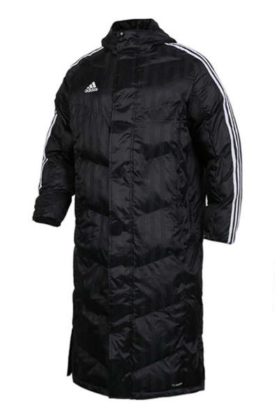 Adidas阿迪达斯男装外套2018冬季新款运动服三条纹保暖宽松长款大码休闲棉服羽绒服BR2069