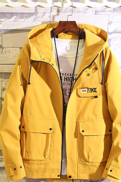 男士外套春秋季初高中学生男韩版工装夹克潮流男装上衣帅气 臻依缘