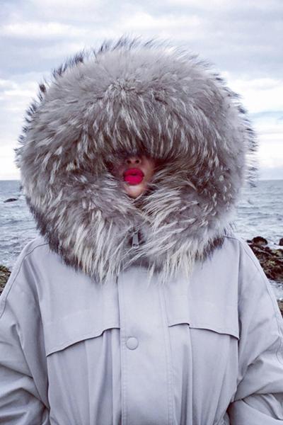 子沫雨JMOORY新款羽绒服女士2018中长款时尚大码加厚超大毛领韩版潮