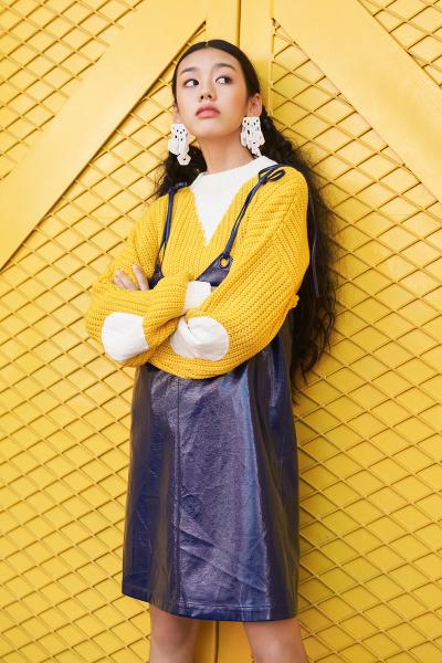 妖精的口袋吊带无袖v领短裙子春新款韩版气质背带连衣裙女