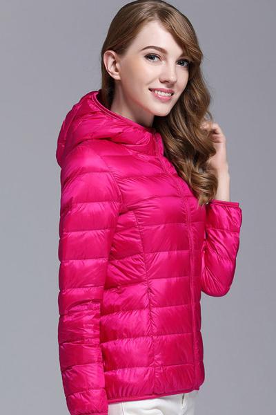 与牧2018新款百搭薄款羽绒服女轻薄短款立领韩版修身轻便大码冬装外套0810