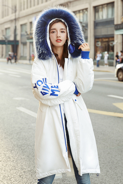 子沫雨JMOORY冬季东大门羽绒服女中长款2018新款韩版潮轻薄显瘦修身薄款加厚