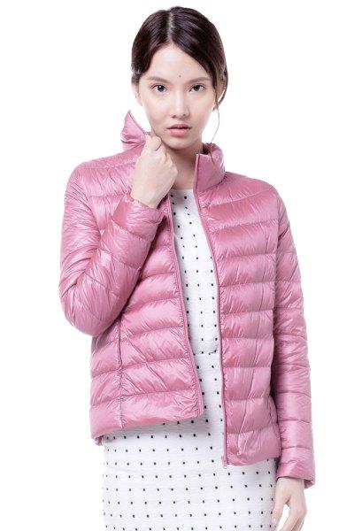 yaloo/雅鹿新款轻薄羽绒服女装短款修身立领羽绒轻型时尚显瘦外套