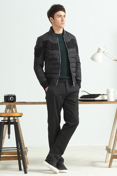 柒牌羽绒服男装冬季青年男士商务男装修身白鸭绒外套