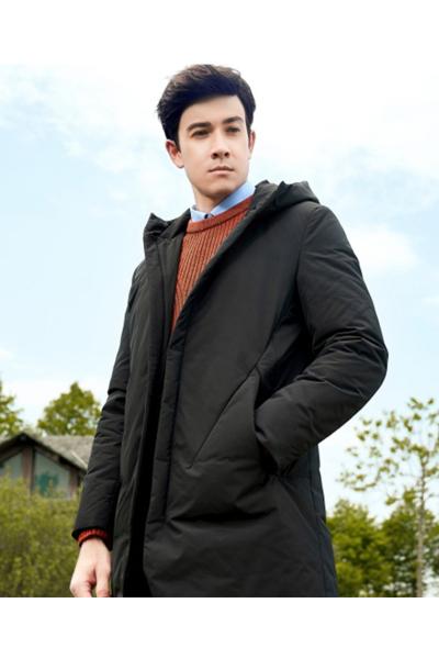 柒牌男装羽绒服男青年中长款保暖外套冬季时尚休闲标准款白鸭绒