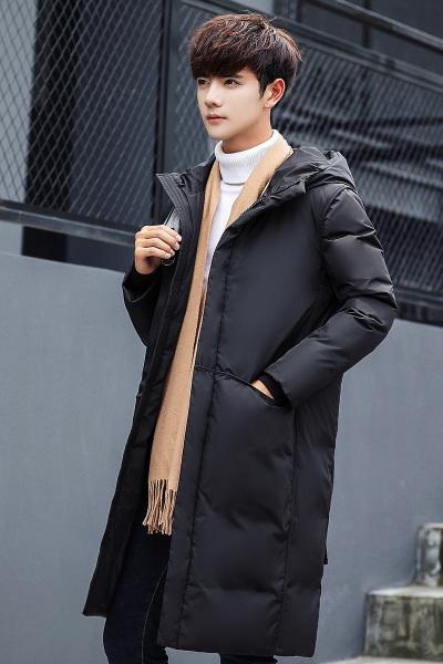 【顺丰包邮】【领券减200】绅士空间冬季新款白鸭绒男士羽绒服男中长款连帽羽绒加厚保暖男装外套BJ.7805