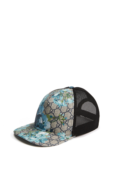 GUCCI/古驰 GG Blooms天竺葵印花人造帆布百搭棒球帽 男426887