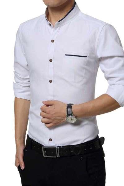 冬天长袖衬衫男人装加绒加厚保暖男士衬衣中年男子带绒加大码冬衣