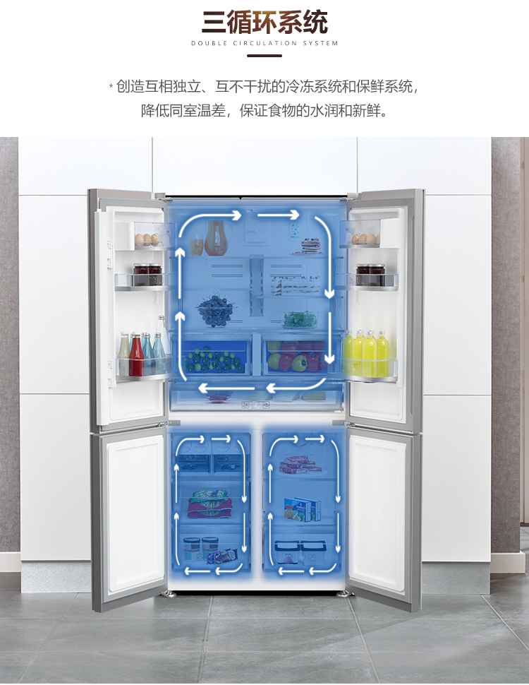 【苏宁专供】倍科冰箱GNE114622 IX