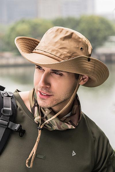帽子男夏天渔夫帽户外防晒遮阳帽太阳帽 韩版潮男士沙滩登山钓鱼帽 TCVV
