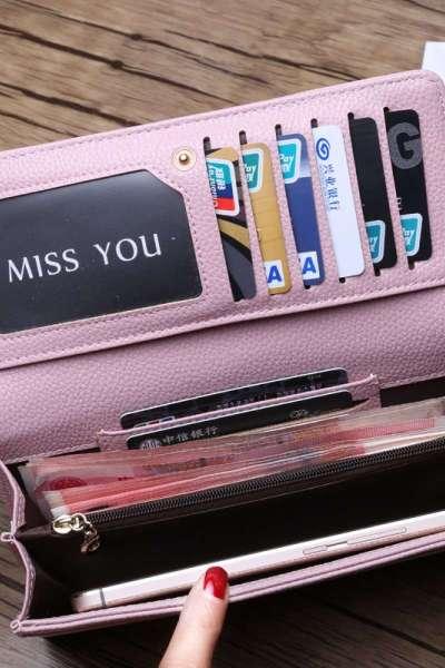 新款时尚欧美女士长款钱包 搭扣软皮钱夹手机包 拉链零钱包潮青年皮夹