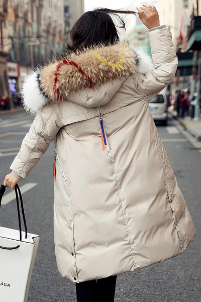 芷臻zhizhen东大门白色羽绒服女士中长款冬季新款韩版潮韩国女款时尚过膝